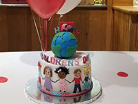 A special cake for International Children's Day