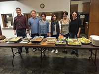 Volunteers brought and served food to the Christ Lutheran Church for dinner