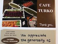 Cafe Turko thank you note