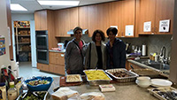 There volunteer women brought food to the Sophia Ways for lunch