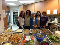 Volunteer women brought food to the Sophia Ways for lunch