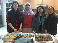 Volunteer women brought and served food to the Sophia Ways for lunch