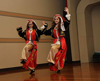 Anadolu Youth Dancers are performing Turkish folk dance
